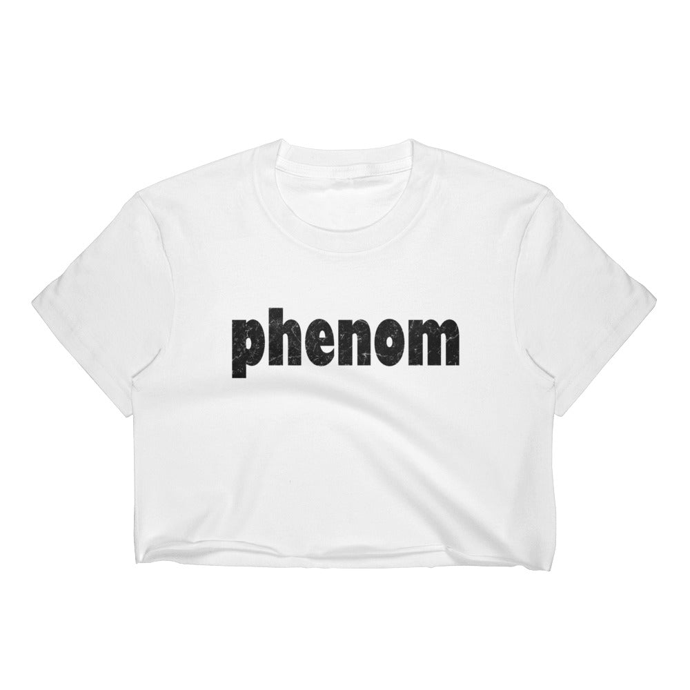 Black Marble Phenom Women's Crop Top