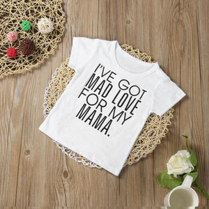 Toddler Boys and Girls Mad Love for Mama T Shirt