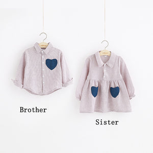 Matching Sister & Brother Heart Outfit