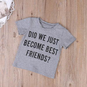 Toddler Boys and Girls Best Friends T Shirt