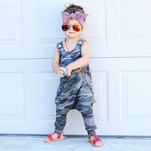 Infant Boys & Girls  Sleeveless Camo Romper