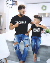 Load image into Gallery viewer, Toddler Boys and Girls Short Sleeve Trouble Maker T-shirt