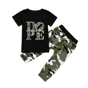 Toddler Boys and Girls DOPE Camouflage Set