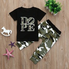 Load image into Gallery viewer, Toddler Boys and Girls DOPE Camouflage Set