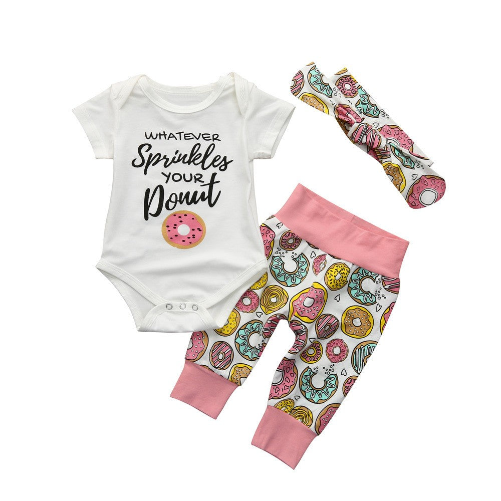 Toddler and Baby Girls Donuts Set