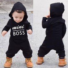 Load image into Gallery viewer, Baby Boys and Girls Mini Boss Hooded Romper