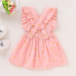 Infant and Toddler Pretty in Pink Ruffled Dress