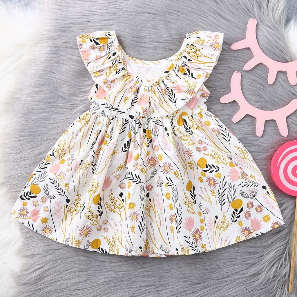 Girls Ruffle Floral Dress