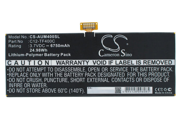 6750mAh / 24.98Wh Battery For ASUS C12-TF400C,