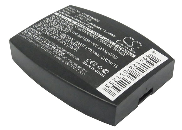 950mAh / 3.52Wh Battery For 3M C1060, C1060 Wireless Intercom, RF1060, T-1, T-1 drive-thru headsets, XT-1,