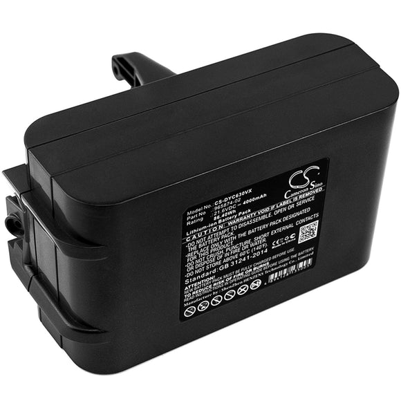 4000mAh Battery For DYSON Absolute, DC59 Animal V6, DC59 Motorhead, DC61,