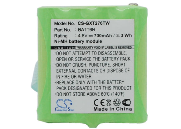 700mAh Battery For MIDLAND AVP6, BATT6R, BATT-6R,