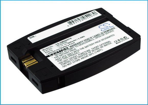 950mAh Battery For HME 6000 I.Q, Blue, Com6000, HS400, HS500, RFT, SYS6000, SYS6100, Wireless IQ,