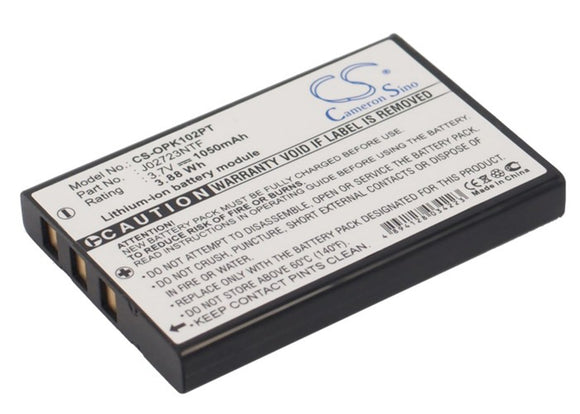 1050mAh / 3.88Wh Battery For OPTOMA BB-LIO37B, PK101 Pico Pocket Projector,