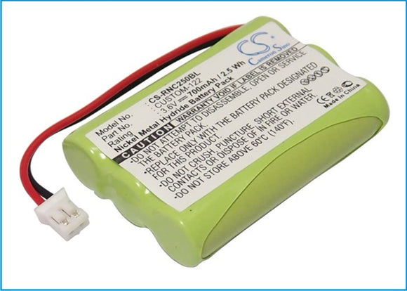 700mAh / 2.5Wh Battery For RESISTACAP INC CUSTOM-122,