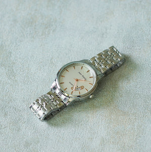Jean Alexis Luxury Watch GT JA014 White Dial (Man) rosegold hands.
