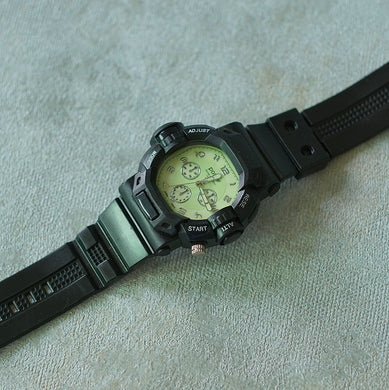 Positif Water Resistant Watch, Men Collection PS50989 Green Dial (Pria)