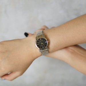 Jean Alexis Luxury Watch LKT JA003 Black Dial (Wanita) Gold Hands