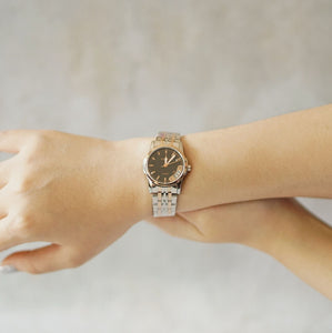 Jean Alexis Luxury Watch LST JA014 Black Dial (Wanita) Rosegold Hands