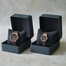 Load image into Gallery viewer, Jean Alexis Luxury Watch GST JA016 Black Dial (Man) Rosegold Hands