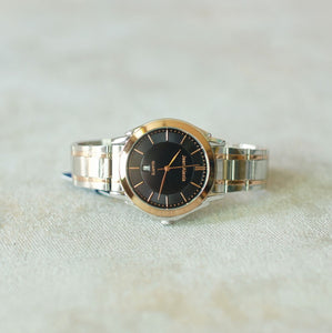 Jean Alexis Luxury Watch GST JA018 Black Dial (Man) Rosegold Hands