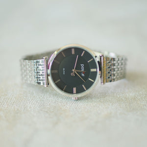 Positif Classic Watch PS7012 Black Dial (Pria)