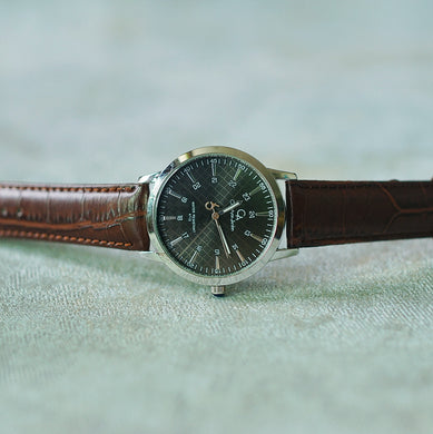 Christyan Arden Original Leather CA4115 Brown - Black Dial (Pria)