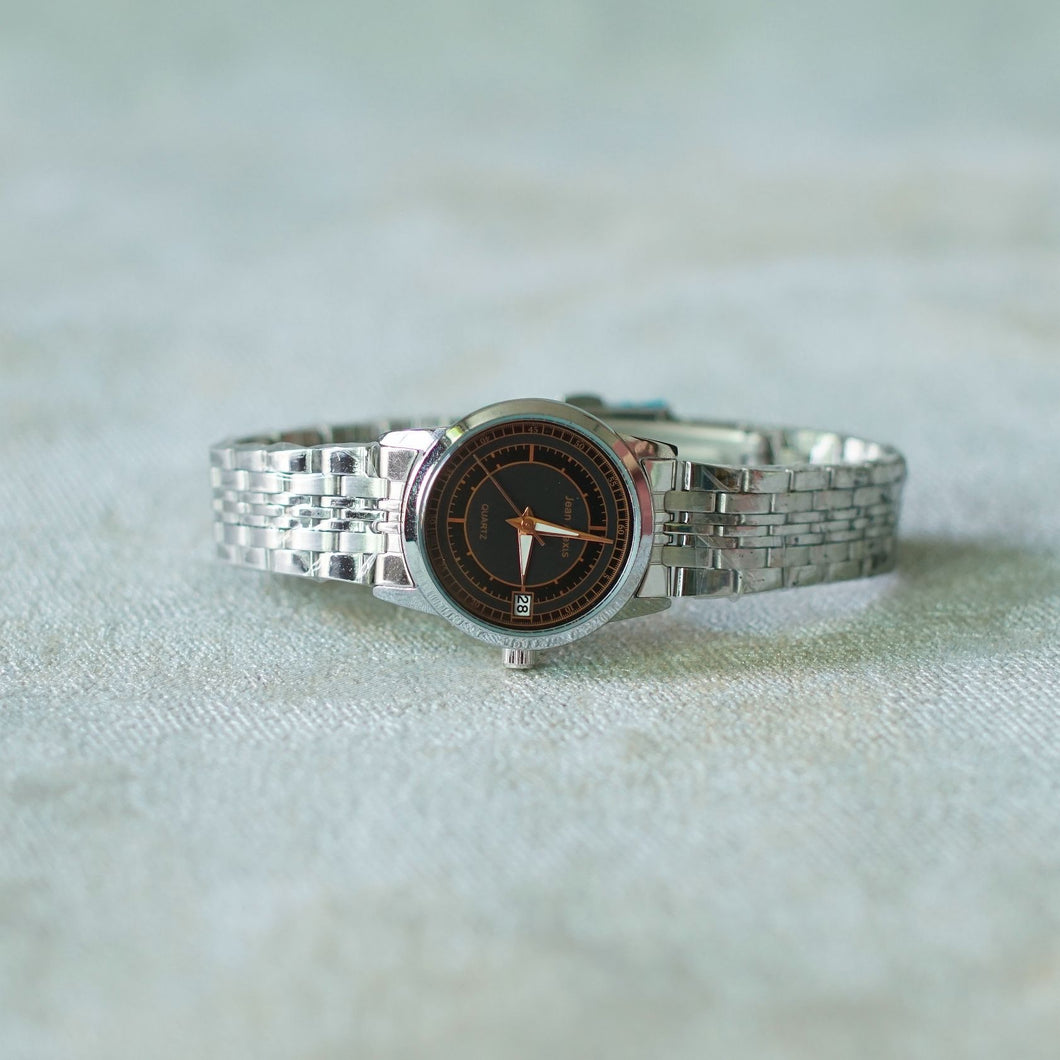 Jean Alexis Luxury Watch LT JA002 Black Dial (Wanita) Rosegold Hands
