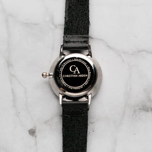 New Christyan Arden BELEN CA3106 - Around The World Edition - Black Dial - Black Full Grain Strap (Wanita)