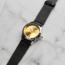 Muat gambar ke penampil Galeri, New Christyan Arden ARES CA3110 - Around The World Edition - Gold SunBurst Dial - Black Strap (Wanita)