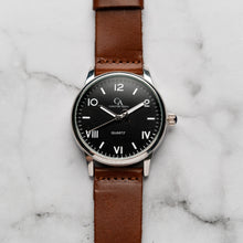Load image into Gallery viewer, New Christyan Arden NILES CA3211 - Around The World Edition - Black Dial - Brown Strap (Pria)