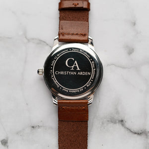 New Christyan Arden NILES CA3211 - Around The World Edition - Black Dial - Brown Strap (Pria)