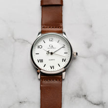 Load image into Gallery viewer, New Christyan Arden NILES CA3211 - Around The World Edition - White Dial - Brown Strap (Pria)