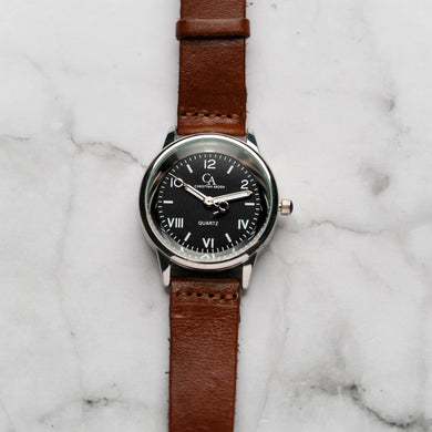 New Christyan Arden NILES CA3211 - Around The World Edition - Black Dial - Brown Strap (Wanita)