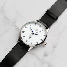 Muat gambar ke penampil Galeri, New Christyan Arden VASILIOS CA3107 - Around The World Edition - White Dial - Black Full Grain Strap (Pria)