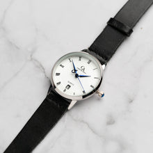 Load image into Gallery viewer, New Christyan Arden VASILIOS CA3107 - Around The World Edition - White Dial - Black Full Grain Strap (Wanita)