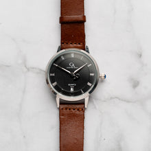 Load image into Gallery viewer, New Christyan Arden VASILIOS CA3107 - Around The World Edition - Black Dial - Brown Full Grain Strap (Wanita)