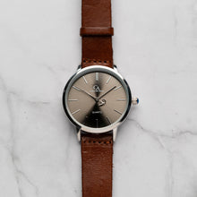 Load image into Gallery viewer, New Christyan Arden LENORE CA3207 - Around The World Edition - Grey Sunburst Dial - Brown Full Grain Strap (Wanita)