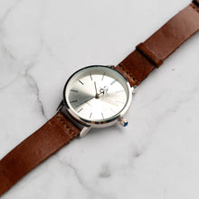Muat gambar ke penampil Galeri, New Christyan Arden LENORE CA3207 - Around The World Edition - Silver Sunburst Dial - Brown Full Grain Strap (Wanita)