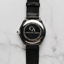 Load image into Gallery viewer, New Christyan Arden ICARUS CA-001 - Around The World Edition - Silver Sunburst Dial - Black Full Grain Strap (Pria)