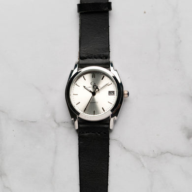 New Christyan Arden ICARUS CA-001 - Around The World Edition - Silver Sunburst Dial - Black Full Grain Strap (Wanita)