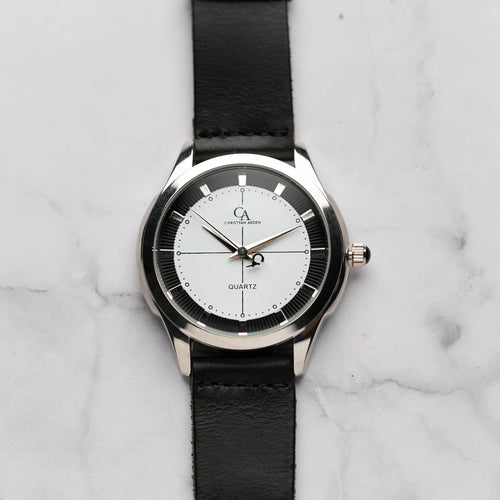New Christyan Arden MILLICENT CA3214 - Around The World Edition - White Dial - Black Strap (Pria)