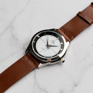 New Christyan Arden MILLICENT CA3214 - Around The World Edition - White Dial - Brown Strap (Pria)