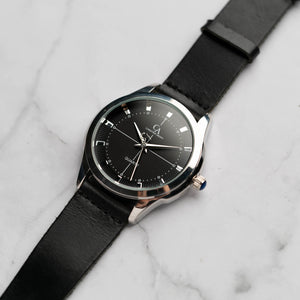 New Christyan Arden MILLICENT CA3214 - Around The World Edition - Black Dial - Black Full Grain Strap (Pria)
