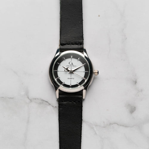 New Christyan Arden MILLICENT CA3214 - Around The World Edition - White Dial - Black Strap (Wanita)