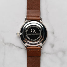 Muat gambar ke penampil Galeri, New Christyan Arden THEO CA3205 - Around The World Edition - Grey Sunburst Dial - Brown Full Grain Strap (Pria)