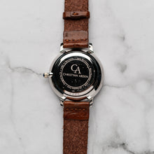 Muat gambar ke penampil Galeri, New Christyan Arden THEO CA3205 - Around The World Edition - Silver Sunburst Dial - Brown Full Grain Strap (Wanita)
