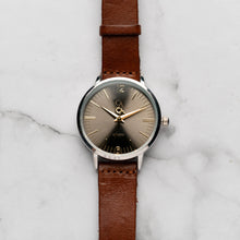 Load image into Gallery viewer, New Christyan Arden THEO CA3205 - Around The World Edition - Grey Sunburst Dial - Brown Full Grain Strap (Wanita)