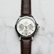 Muat gambar ke penampil Galeri, Christyan Arden Full Grain Leather CA8020 Brown - White Dial (Pria)