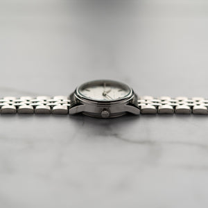 Jean Alexis JARL LT JA114 - Prestige Edition - Silver Stainless Steel Strap - Silver Case - White Dial (30mm)